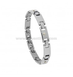 BRACELET IMPERNATED WITH STEEL BRASS DUCTS CM 21