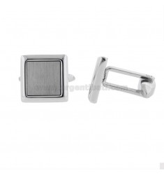 14X14 MM SQUARE STEEL CUFFLINKS