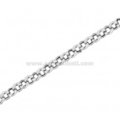 CHAIN METAL ROLO 'DIAMETER KNIT MM 4.4 MM THICKNESS 1.5 MM SILVER RHODIUM TIT 925 50 CM 50