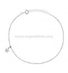 ROLO 'ANKLE WITH STAR PENDANT IN RHODIUM SILVER TIT 925 22 22 CM EXTENDABLE TO 25