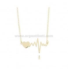 ROLO NECKLACE IN GOLDEN SILVER TIT 925 ‰ CM 40-45