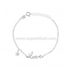 ROLO 'LOVE ARMBAND IN SILBER RHODIUM TIT 925 ‰ CM 17-19