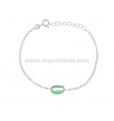 ROLO BRACELET 'WITH SHELL IN RHODIUM SILVER TIT 925 ‰ AND ENAMEL CM 17-19