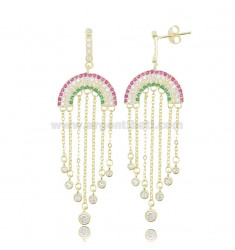 RAINBOW EARRINGS IN SILVER SILVER TIT 925 AND COLORED ZIRCONIA