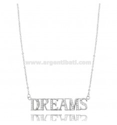 DREAMS NECKLACE IN SILVER RHODIUM TIT 925 AND ZIRCONIA 42-45 CM