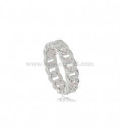 GROUMETTE RING IN SILVER RHODIUM TIT 925 AND WHITE ZIRCONIA SIZE 14
