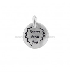 PENDANT 18 MM ROUND DREAM CREDI OSA SILVER RHODIUM TIT 925 AND ENAMEL