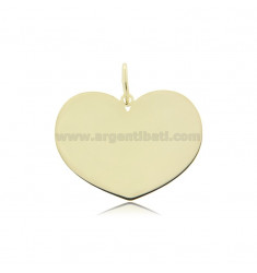 HEART PENDANT 23X30 MM LASER CUT IN GOLDEN SILVER TIT 925 ‰