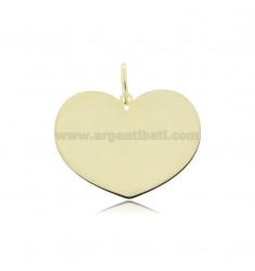 HEART PENDANT 23X30 MM LASER CUT SILVER GOLDEN TIT 925 ‰