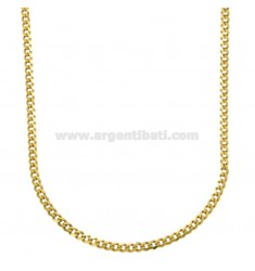 GRUMETTINA SLIM CHAIN MM 3 CM 45 IN GOLDEN SILVER 925 ‰