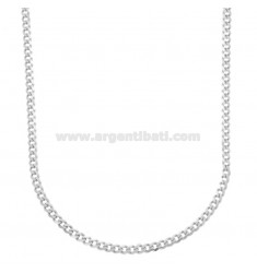 GRUMETTINA SLIM CHAIN MM 3 CM 45 IN SILVER RHODIUM 925 ‰