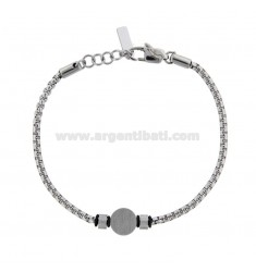 VENETIAN BRACELET WITH ROUND CENTRAL STEEL CM 21