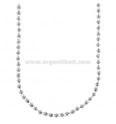 BALL NECKLACE MM 3 IN STEEL CM 50-55