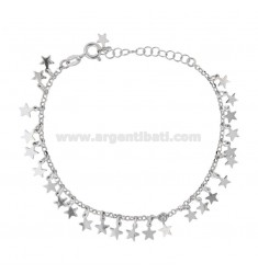ROLO BRACELET 'WITH HEARTS IN SILVER RHODIUM TIT 925 ‰ CM 18-20