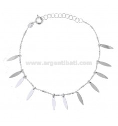 BRACELET FORZATINA WITH DROP PENDANTS IN SILVER RHODIUM TIT 925 ‰ CM 18-20