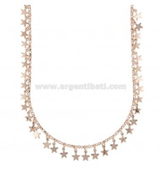 NECKLACE WITH STARS PENDANTS IN SILVER ROSE TIT 925 70 CM 70