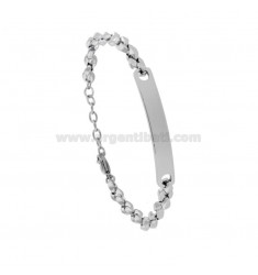 MARINA KNIT BRACELET WITH STEEL PLATE CM 21