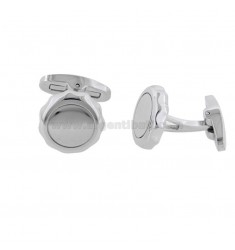 ROUND CUFFLINKS MM 15 IN STEEL