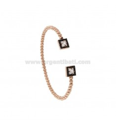CONTRARY RIGID BRACELET IN SILVER ROSE TIT 925 AND ZIRCONIA