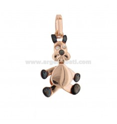 PENDANT BIRTHDAY IN SILVER ROSE GOLD PLATED AND RUTENIO TIT 925 WITH ZIRCONIA