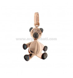 PENDANT BEARLE MOVABLE IN SILVER ROSE GOLD PLATED AND RUTENIO TIT 925 WITH ZIRCONIA