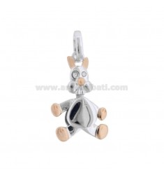 PENDANT BIRTHDAY IN SILVER PLATED RHODIUM AND ROSE GOLD TIT 925 WITH ZIRCONIA