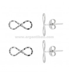 LOBO INFINITO EARRINGS 15X6 MM 2 PCS IN SILVER RHODIUM TIT 925