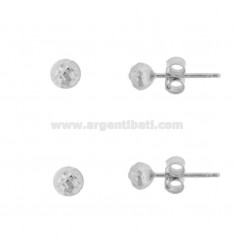 LOBO EARRINGS SFERA MM 6 PCS 2 IN SILVER RHODIUM TIT 925