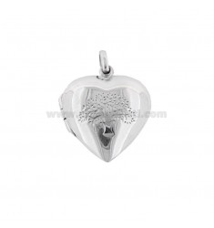 PENDANT PHOTO HEART MM 23X20 WITH TREE DELA LIFE IN SILVER TIT 925