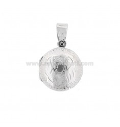 PENDANT PHOTO ROUND 18 MM MIXED ENGRAVINGS IN SILVER TIT 925