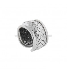BAND RING IN BRUNITO SILVER TIT 925 ADJUSTABLE SIZE
