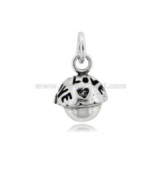 PENDANT CALLING ANGELS MINI LOVE MM 13 IN BURNISHED SILVER TIT 800 ‰