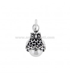 CALL ANGELS CHARM MINI OWL 14 MM SILVER BRUNITO TIT 800 ‰