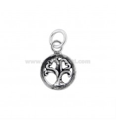 PENDANT ROUND 16 MM TREE OF LIFE IN SILVER BRUNITO TIT 800
