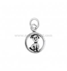 DOG ROUND PENDANT 16 MM IN SILVER BRUNITO TIT 800