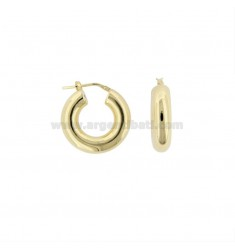 RING EARRINGS WITH ROUND ROD 6 MM DIAMETER INTERNAL MM 12 IN SILVER RING TIT 925