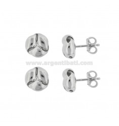 EARRINGS IN LOBO NODE MM 9 PCS 2 IN SILVER RHODIUM TIT 925