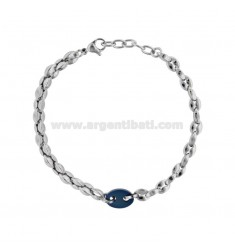 MARINE SWEATER BRACELET IN TWO-COLORED STEEL CM 21