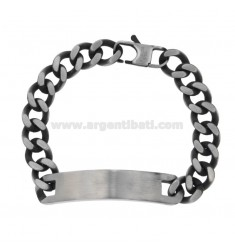 BURNISHED BRACELET STEEL BRACELET WITH PLATE MM 11