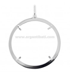 FRAME FOR COIN INTERNAL DIAMETER 36 MM SILVER TIT 925