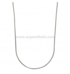 NECKLACE GAS TUBE DIAMETER MM 1,6 CM 40 SILVER RHODIUM TIT 925 ‰