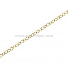 ROUND CHAIN BY THE METER DIAM 28 A THREAD MM 0,5 IN SILVER GOLDEN TIT 925 ‰ CM 50