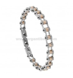 BRACELET BICYCLE CHAIN IN STEEL BICOLOR 8 MM