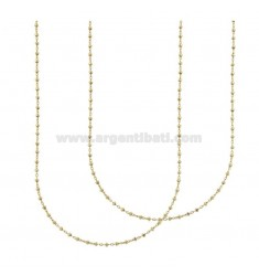 SAURO CHAIN 2 PCS IN GOLD PLATED TIT 925 ‰ CM 45