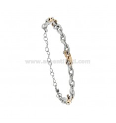 TWO-TONE STEEL CABLE BRACELET CM 21