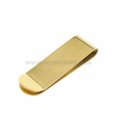 GOLD-PLATED POLISHED STEEL MONEY CLIP