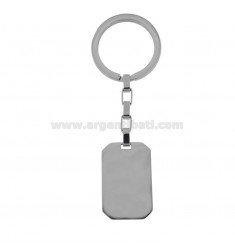 STEEL RECTANGULAR KEY RING 34X22 MM
