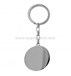 35 MM ROUND KEY RING IN STEEL