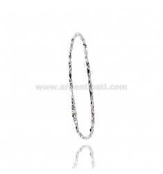 MEN'S BRACELET EMPTY MESH WITH CENTRAL PLATE IN SILVER RHODIUM AND ROSE TIT 925 CM 20
