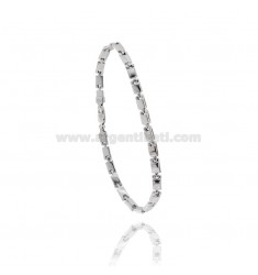 MEN'S BRACELET EMPTY MESH IN SILVER RHODIUM TIT 925 CM 20